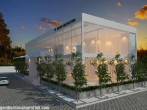 Desain Gedung Kantor Minimalis 1