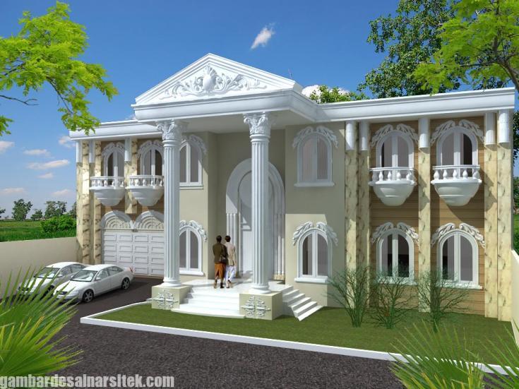Desain Rumah Mediterania Mewah 2 Lantai (5)