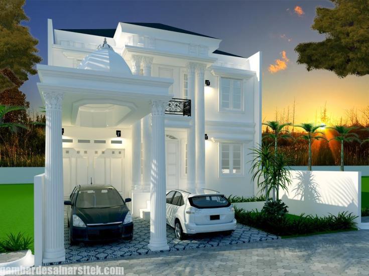 Desain Rumah Mediterania Mewah 2 Lantai (9)