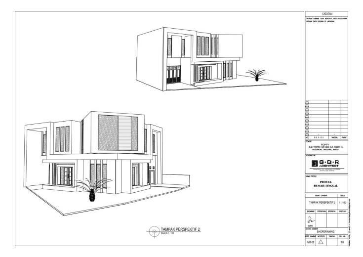 Jasa Desain Rumah Contoh Paket Gambar Kerja 09 TAMPAK PERPEKTIF 2