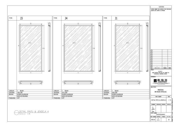 Jasa Desain Rumah Contoh Paket Gambar Kerja 36 DETAIL PINTU DAN JENDELA 4