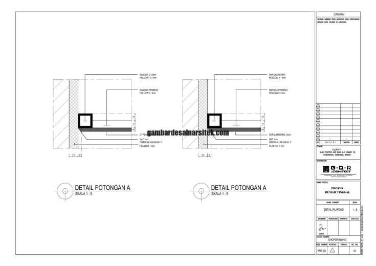 Jasa Desain Rumah Contoh Paket Gambar Kerja 42 DETAIL PLAFOND