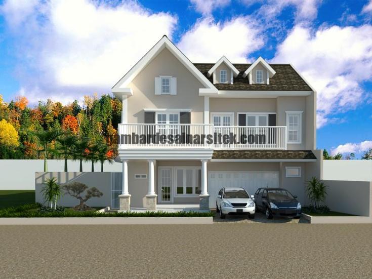 Desain Rumah Tipe Eropa 2 Lantai 1