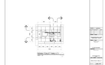 Gambar Kerja 2D Rumah 2 Lantai Tropis DETAIL TOILET 1