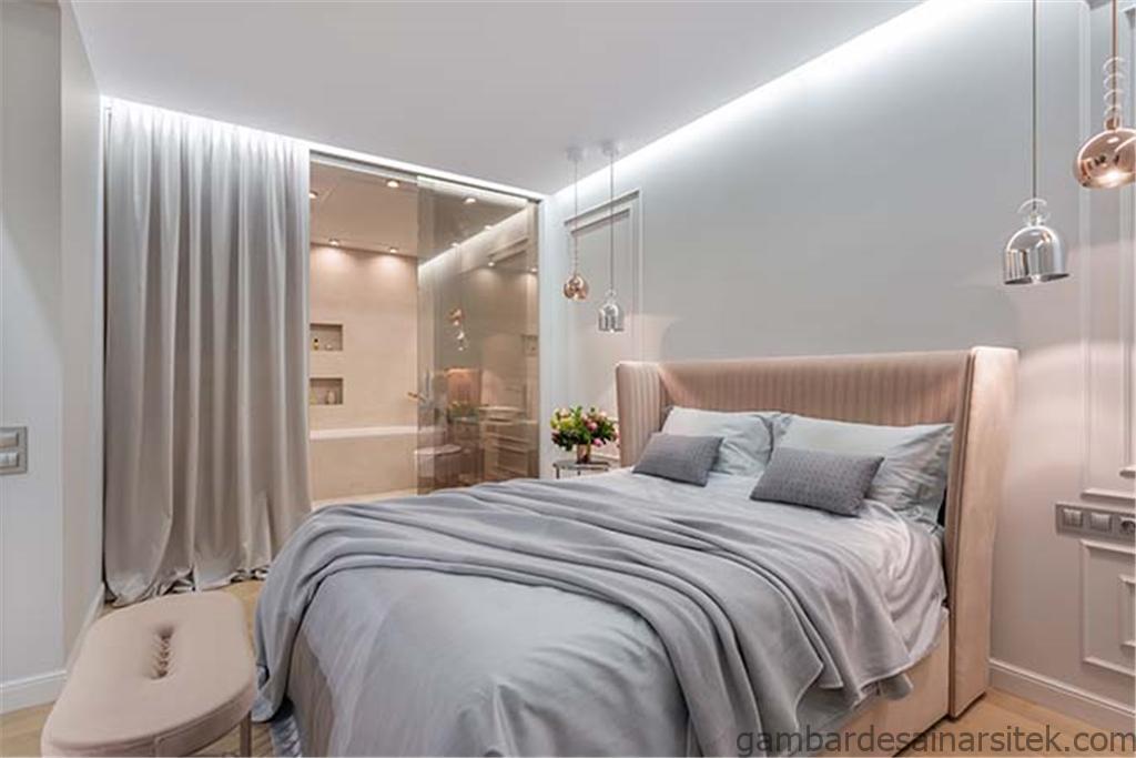 desain kamar tidur modern minimalis yang nyaman dan luas btn 1