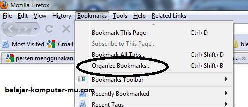 cara mem backup mengembalikan bookmarks mozila firefox