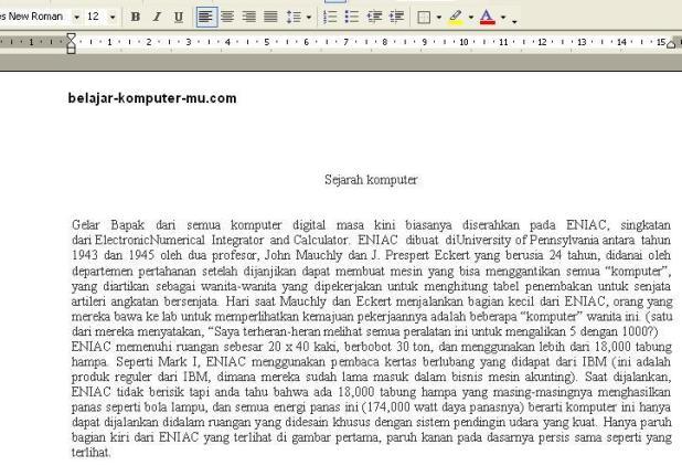 cara mengatur paragraf microsoft word xp 2003
