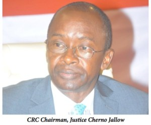 Gambian CRC Chairman, Justice Cherno Jallow
