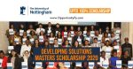 Developing Solutions Masters Scholarship At Nottingham University UK