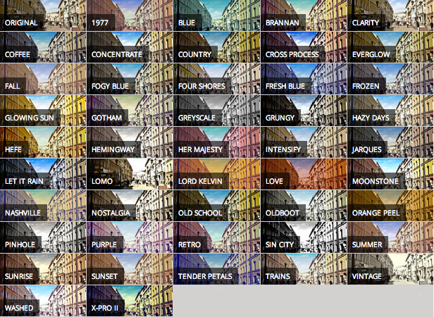 Ultimate Image Filters has over 40 unique image filters for you to choose from