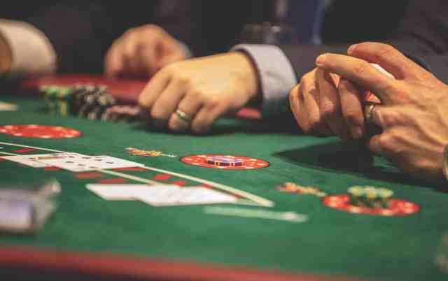 person playing poker