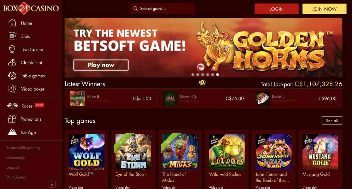 Box 24 Casino : Get 135 Free Spins + 750% Match On 3 Deposits
