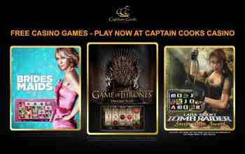 Captain Cooks Casino : get 100 free bets as $25 bonus for just $5