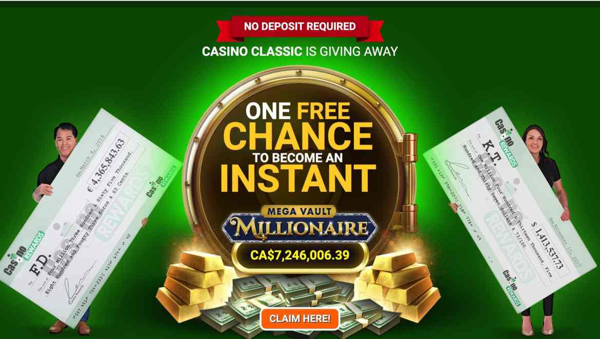 Casino Classic – 40 free spins to be a millionaire for $1