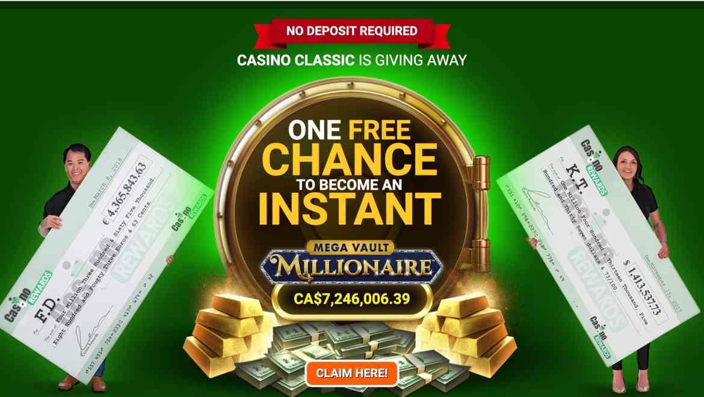 Casino Classic – multiple deposit bonus of up to $€£500 free