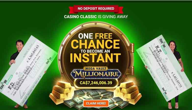 Casino Classic : get 1 free spin + 40 For $1 + 100% Deposit Bonus