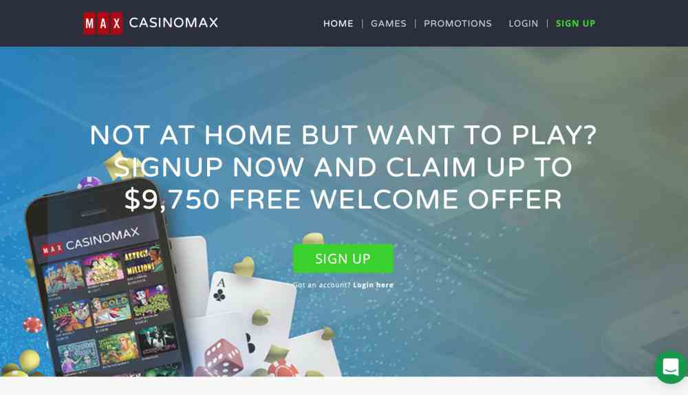 New Players At Casinomax Will Get Up To $9,750 Casino Max Deposit Bonus + 175 Free Spins On Three Deposits. Play Progressive Jackpots, And Bonus Rounds Games.