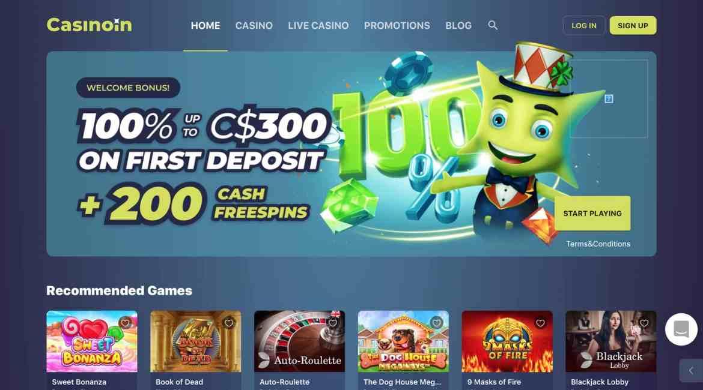 Casinoin : Get $300 Deposit Bonus + 200 Free Spins