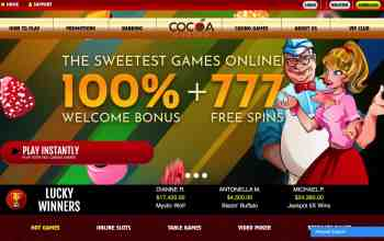 Cocoa Casino : Get 100% Bonus + 777 Free Spins On 1St Deposit
