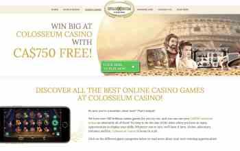 Colosseum Casino : Claim Your $750 Free Sign Up Bonus