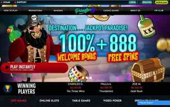 Paradise 8 Casino : Get 100% Bonus + 888 Free Spins On Deposit