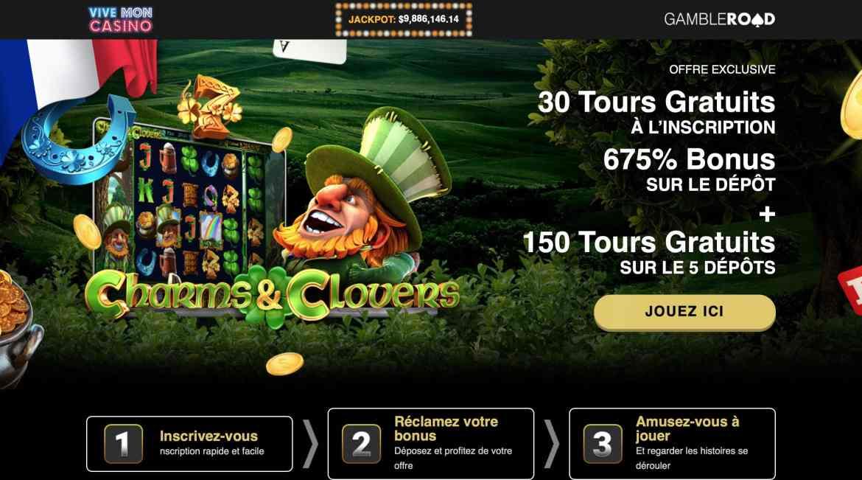 Vive Mon Casino : 30 Free Spins On Signup + 675% Deposit Bonus