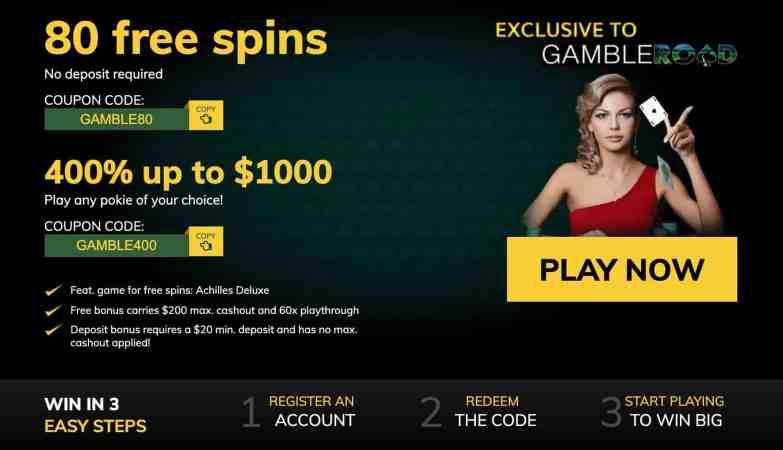 Yukon Gold Casino : get 125 spins for $10 + 100% deposit bonus
