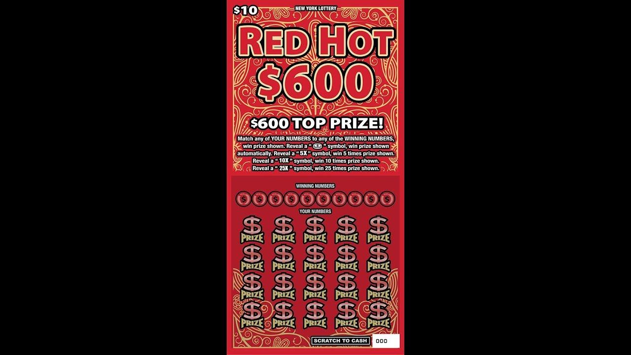 $10 - RED HOT $600 - HUGE JUMBO BIG WIN! Lottery Bengal Scratch Off tickets  JACKPOT!