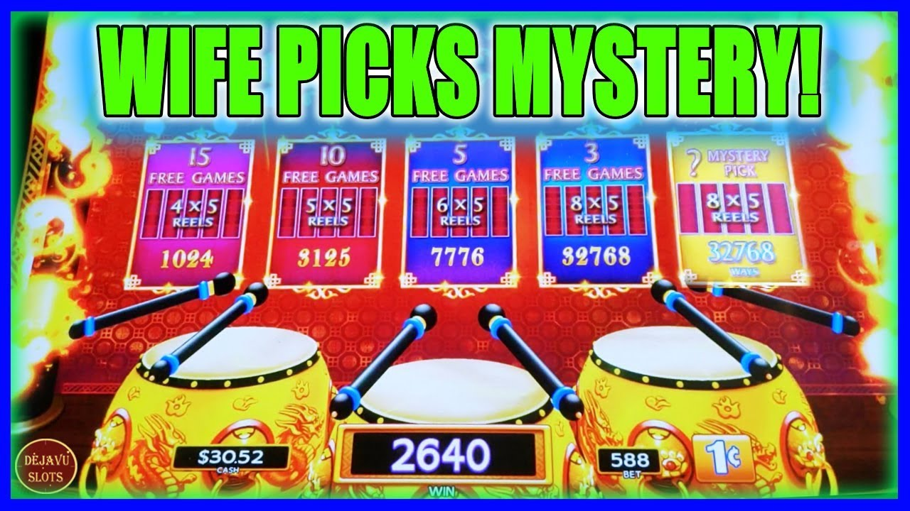 Wife Picks Mystery And It Pays Off Dancing Drums Explosion Slot