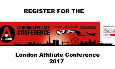 register for the London Affiliate Conference 2017