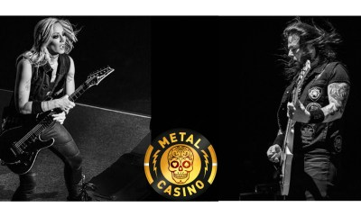 Metal Casino Signs World Metal Stars Nita Strauss and Gary Holt