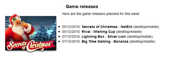 Game releases