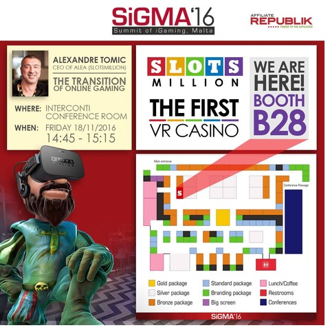 SlotsMillion&Affiliate Republik at Sigma16