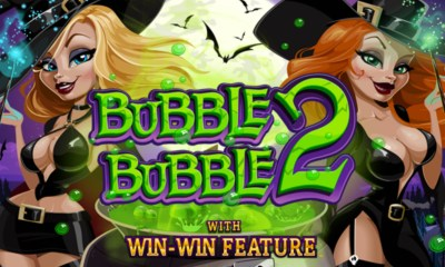 RTG's new Bubble Bubble 2 slot now at Slotastic