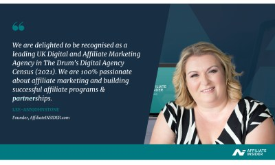 AffiliateINSIDER ranks Top 50 in The Drum's annual Digital Agency Census