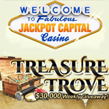New Way for Anyone to Win in Jackpot Capital's $130,000 'Treasure Trove' Contest