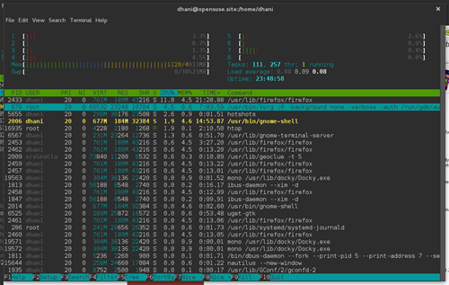 htop-opensuse