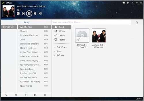 deepin music player on ubuntu