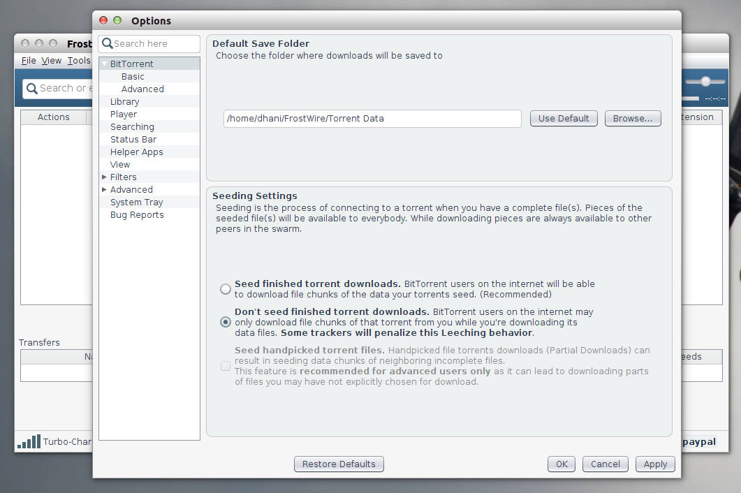 FrostWire 5 7 3 on Ubuntu 14 04 Screenshots - Tutorial and