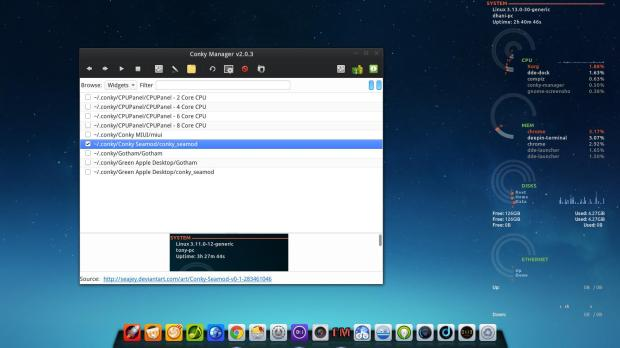 conky manager on deepin 2014