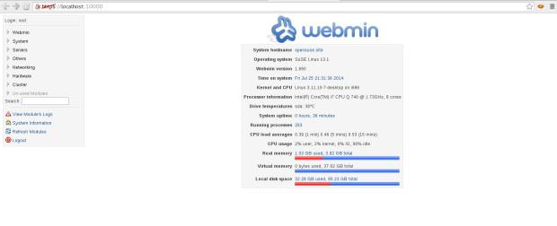webmin 1.690 on opensuse 13.1