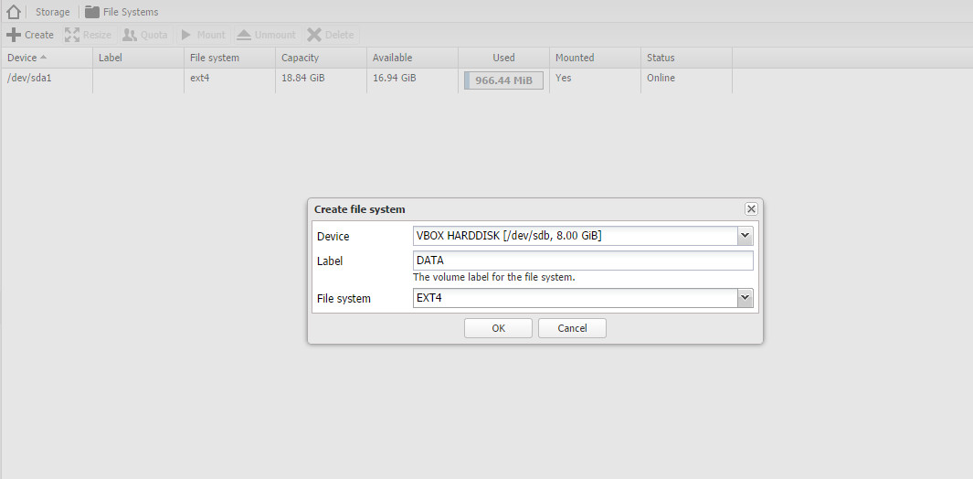 How to add new disk to OpenMediaVault 1 0 - Tutorial and