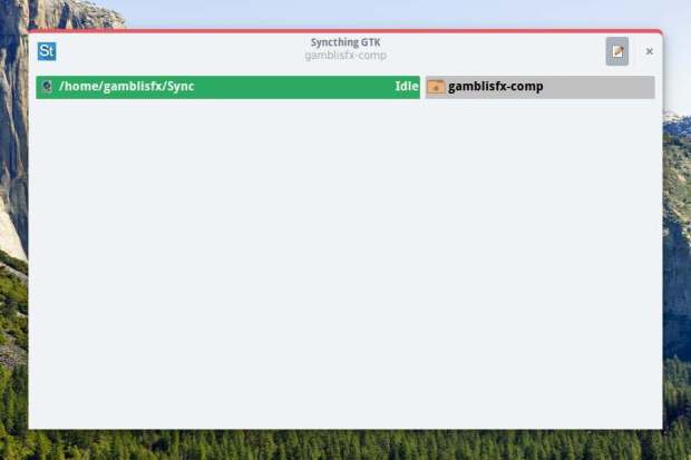syncthing gtk-ubuntu