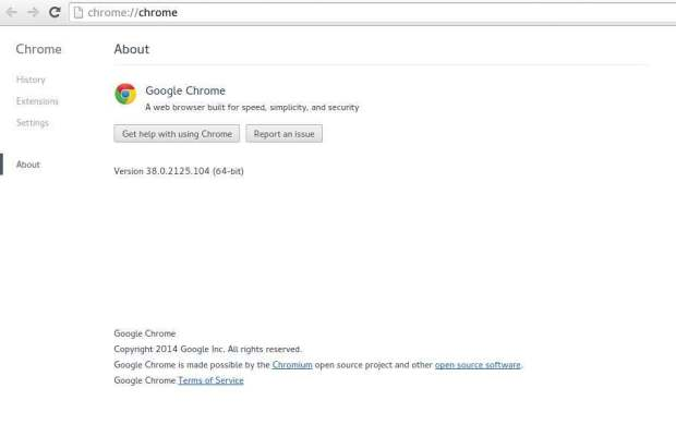 google chrome on opensuse