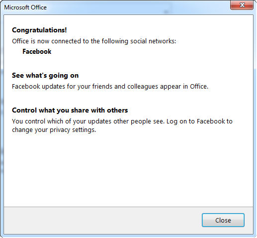 integrate facebook account to outlook 2013 3