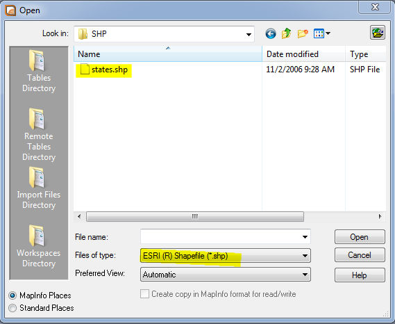 Mapinfo Tutorial-How to Open ESRI Shapefile to MapInfo