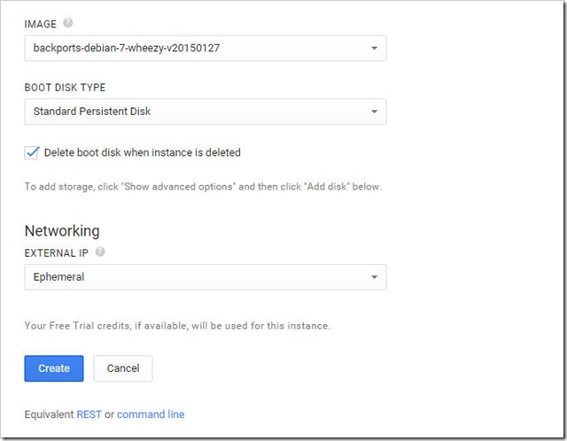 create new vm instance on google cloud platform 4