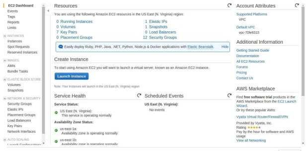 create instance on amazon ec2