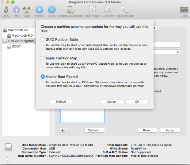create new partition 2
