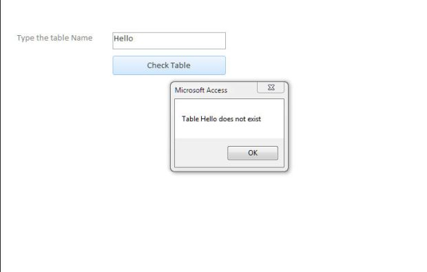 check if table exist vba